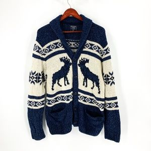 Abercrombie & Fitch Nordic Button Front Cardigan